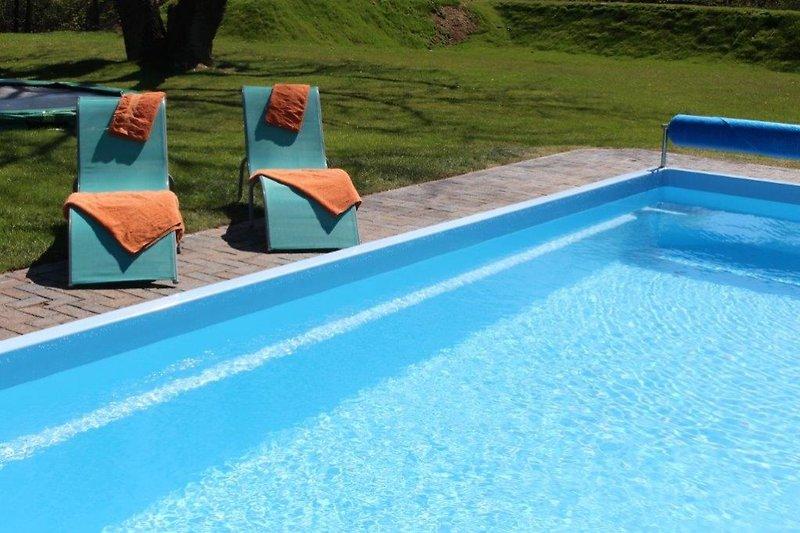beheizter Pool immer 24°