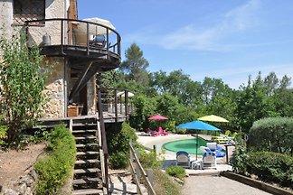 casa de vacaciones con piscina climatizada