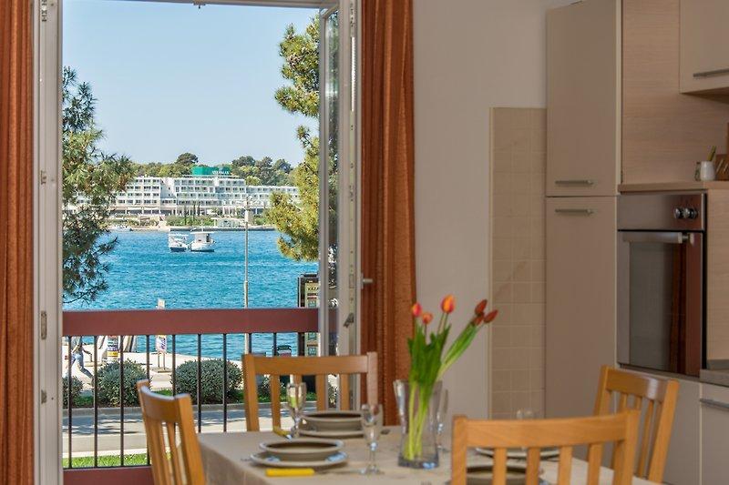 Meerblick aus den Apartment Riva