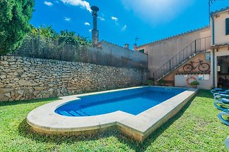 Fantastic two buildings village house located at Llubí, with a garden and a swimming pool, where 6 guests will feel like at home.