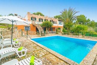 Schönes Haus für 8 Personen mit privatem Pool, eingebettet in einen schönen Pinienwald und nur 1,4 km von der Stadt Son Servera entfernt.