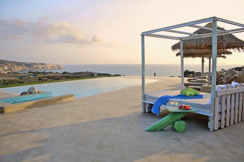 Schwimmbad von Villa am Strand Komos