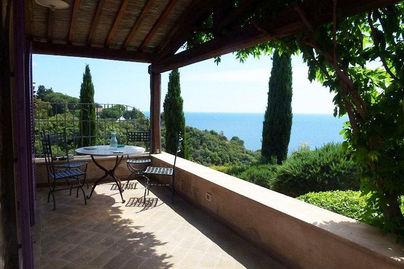 Veranda mit Meerblick | Villa Stella Sopra