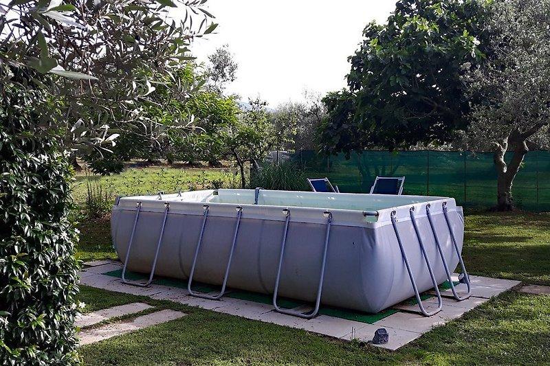 der aufgestellte Pool - Badespaß für klein und gross