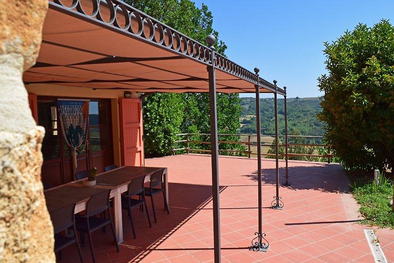 Ferienhaus Toskana Terrasse Casa al Pino