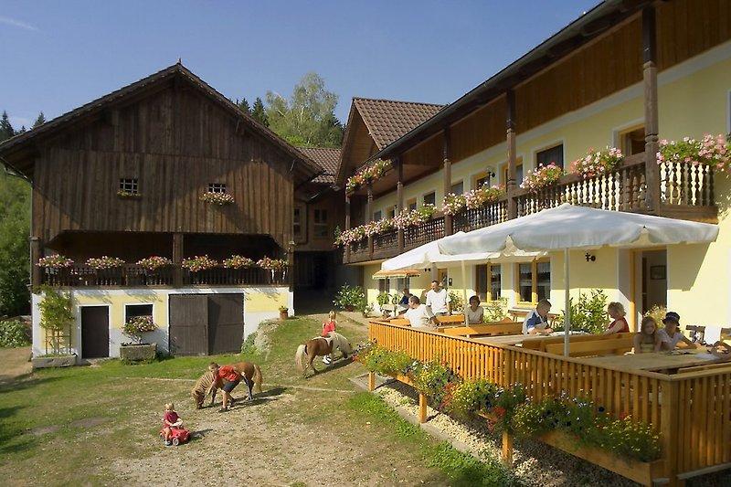 Terrasse Ferienhof Schmauß