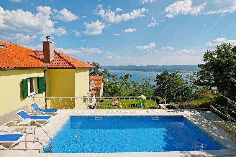 Villa Maruncela mit privatem 24m2 Pool und spektakulärem Meer- und Inselblick