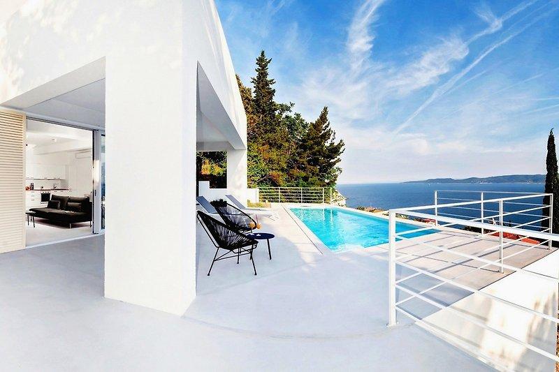 Villa V in Mimice with amazing sea view