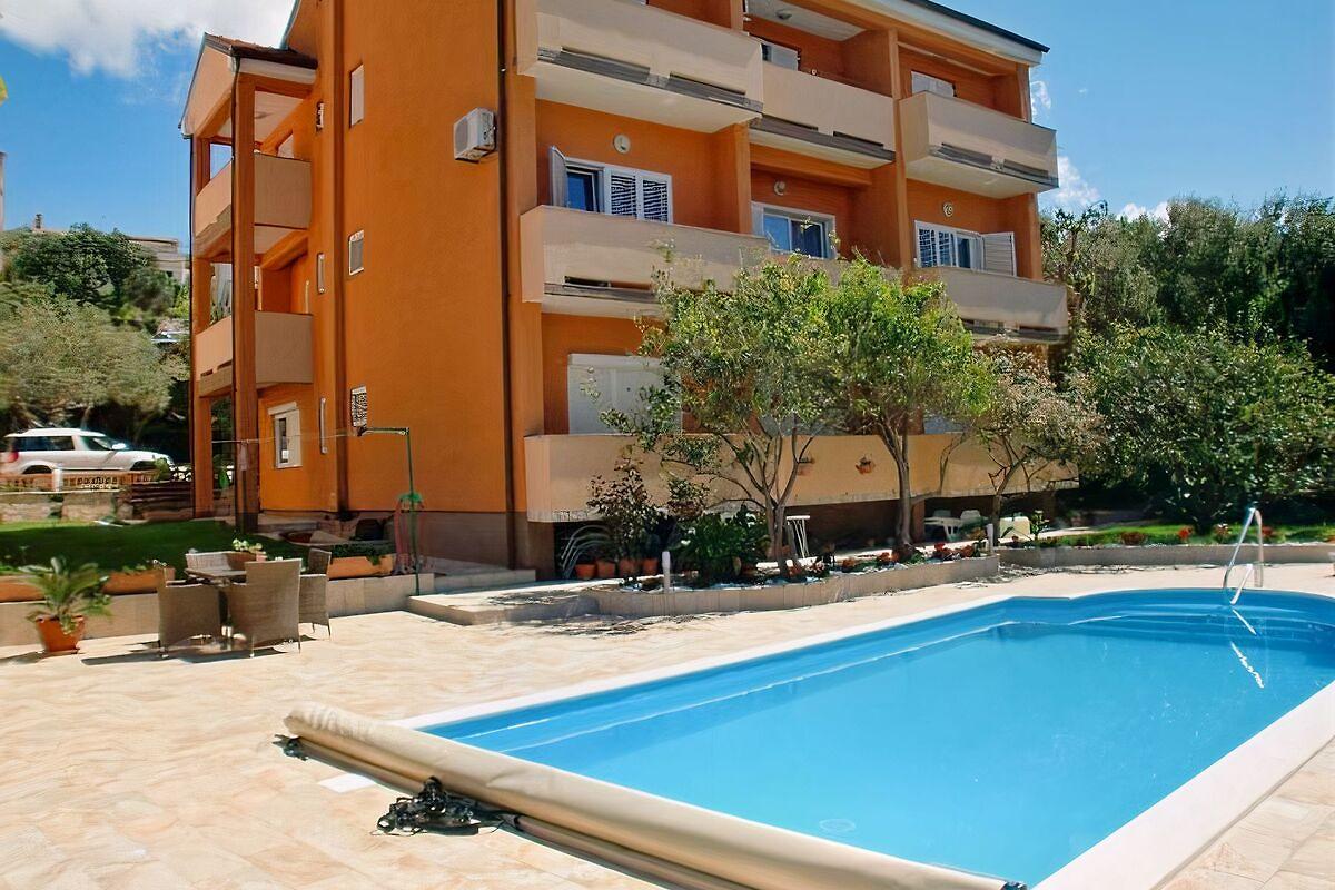 Haus sany mit pool ferienwohnung in rab stadt mieten for Haus mit pool mieten