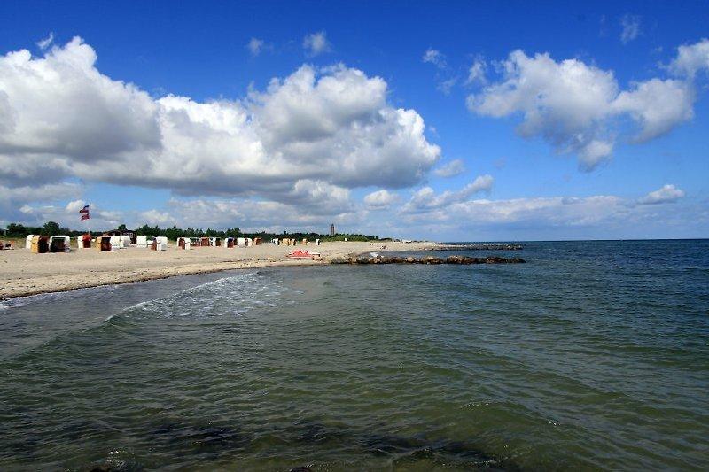 der Behrensdorfer Strand ist nur ca. 400m entfernt, keine Kurtaxe aber ein Leuchtturm