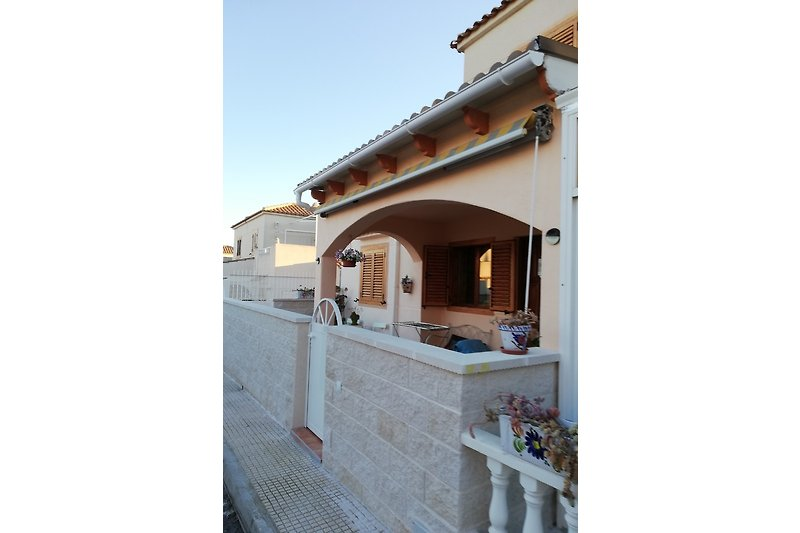 Neu gestaltete Terrasse