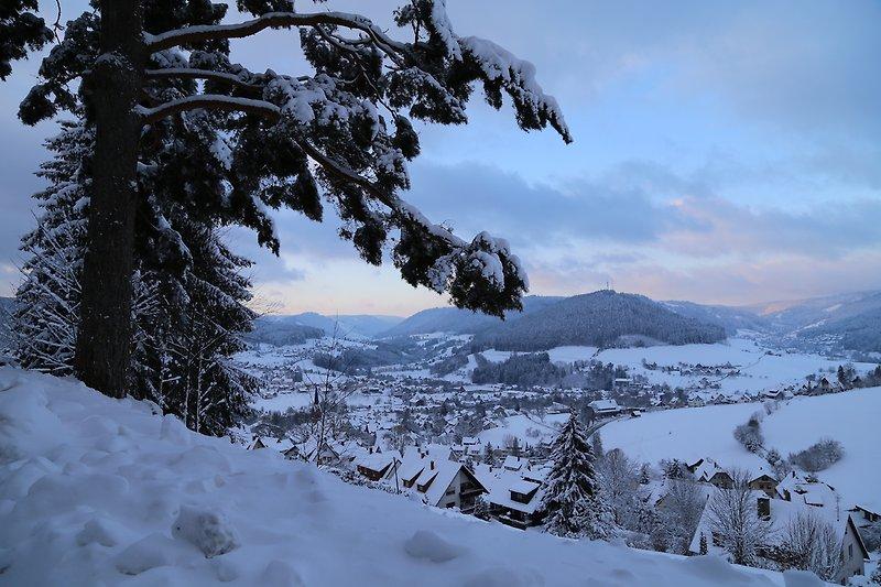 Aussicht Goldener Hahn Residence am Waldesrand (5min von der Hauptanlage entfernt)