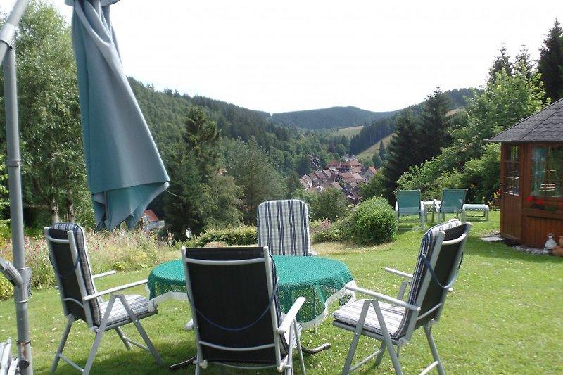 Garten mit Blick auf Altenau