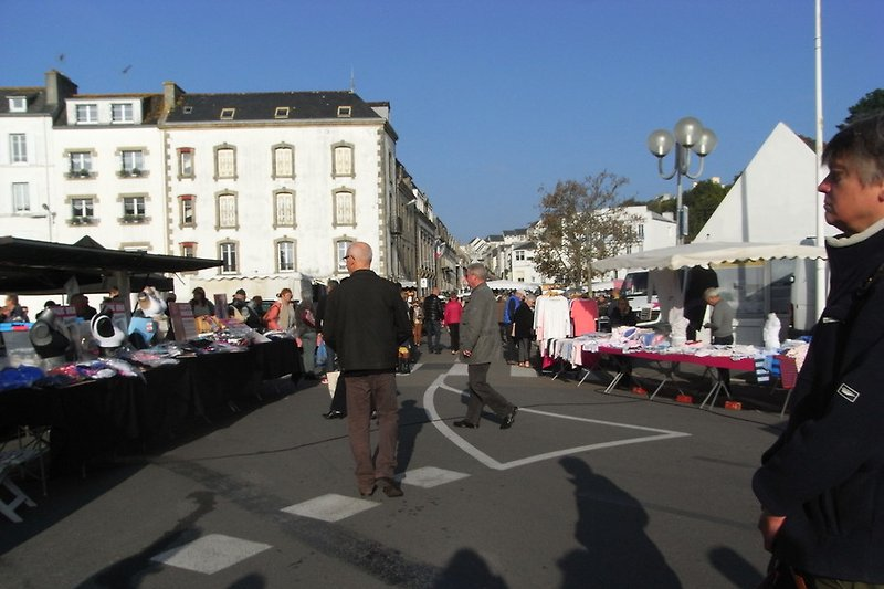 Jeden Samstag ist Markt in Audierne