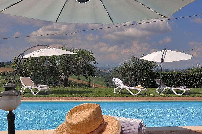 Villa Greta - Private pool with panoramic view