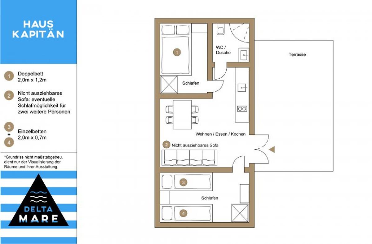 delta mare h user an der ostsee ferienhaus in dziwnow mieten. Black Bedroom Furniture Sets. Home Design Ideas