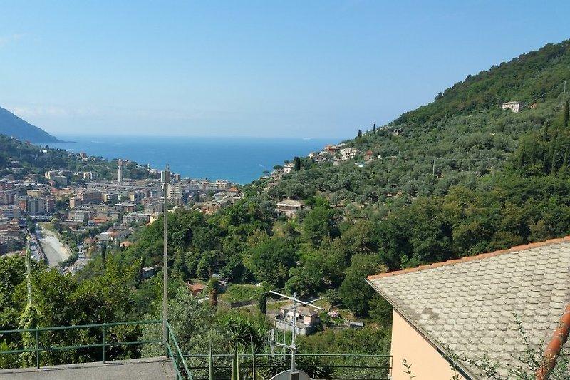 Panorama visto dalla villa