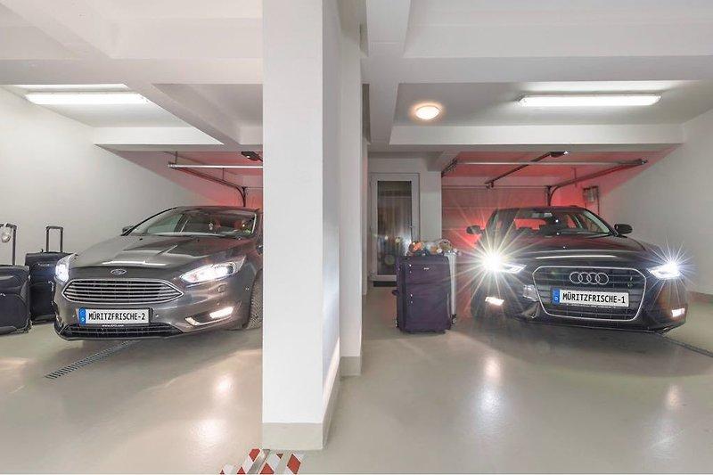 Beide Garagen auf einen Blick