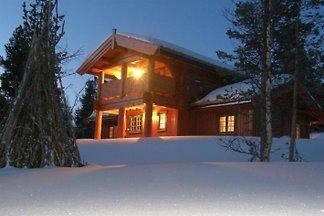 Holzblockhaus Norwegen
