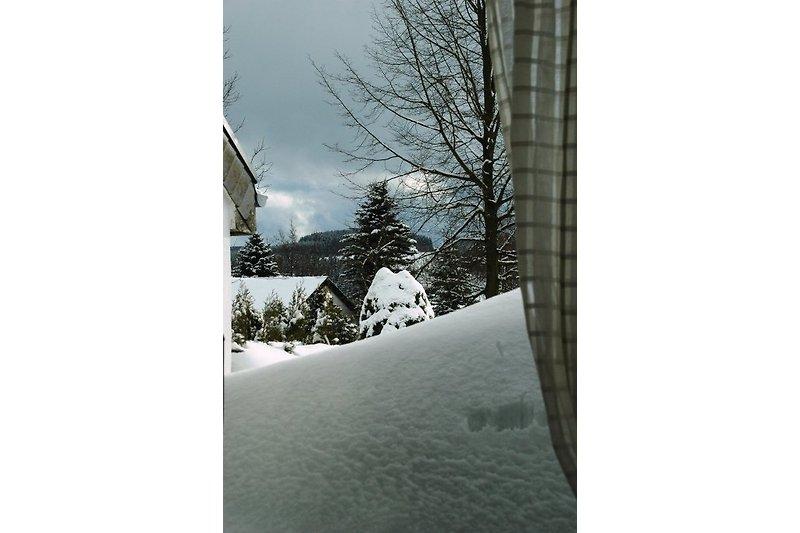 Terrasse im Winter