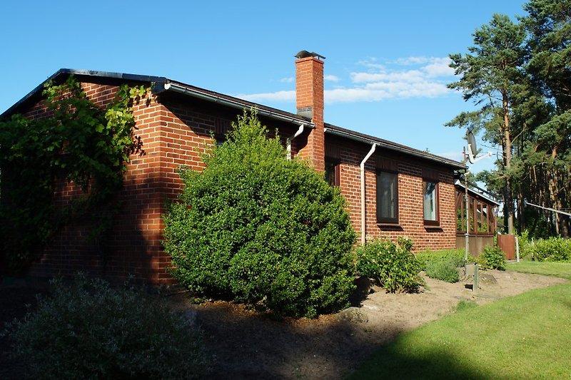Die Südseite des Ferienhauses