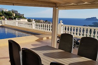 Moraira/ Benitachell Cumbre del Sol detached villa with stunning sea views and sunset in the mountains and only 7 min to downtown.