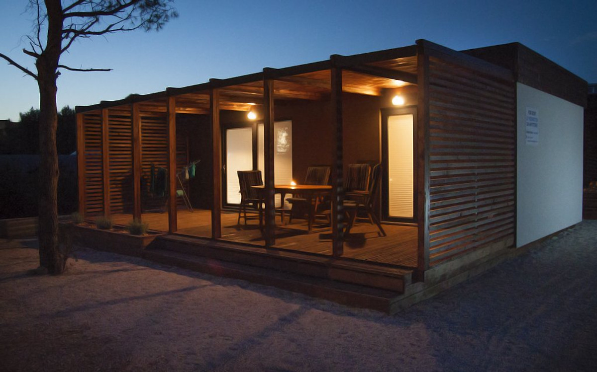 Sea shell mobile home ferienhaus in drage mieten for Mobiles ferienhaus
