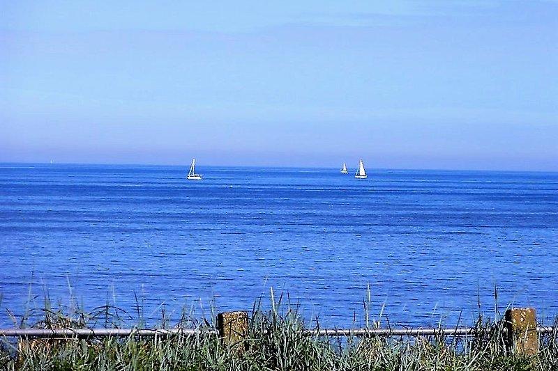 Das Meer gegenüber dem Haus