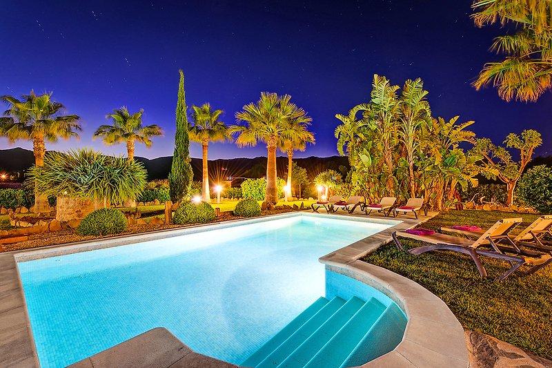 beleuchteter Pool