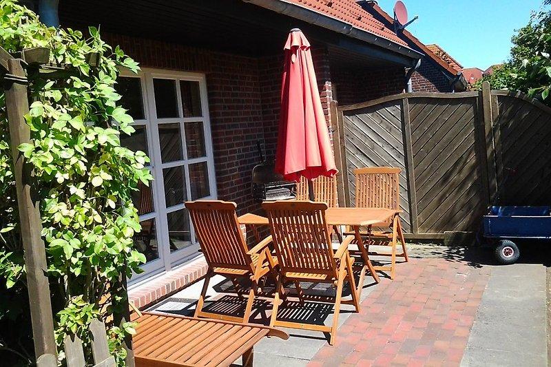 Ferienhaus Eulennest- Terrasse