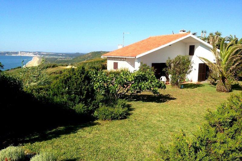 Anlage mit Casa Ypselon und Blick auf den Strand und Nazaré