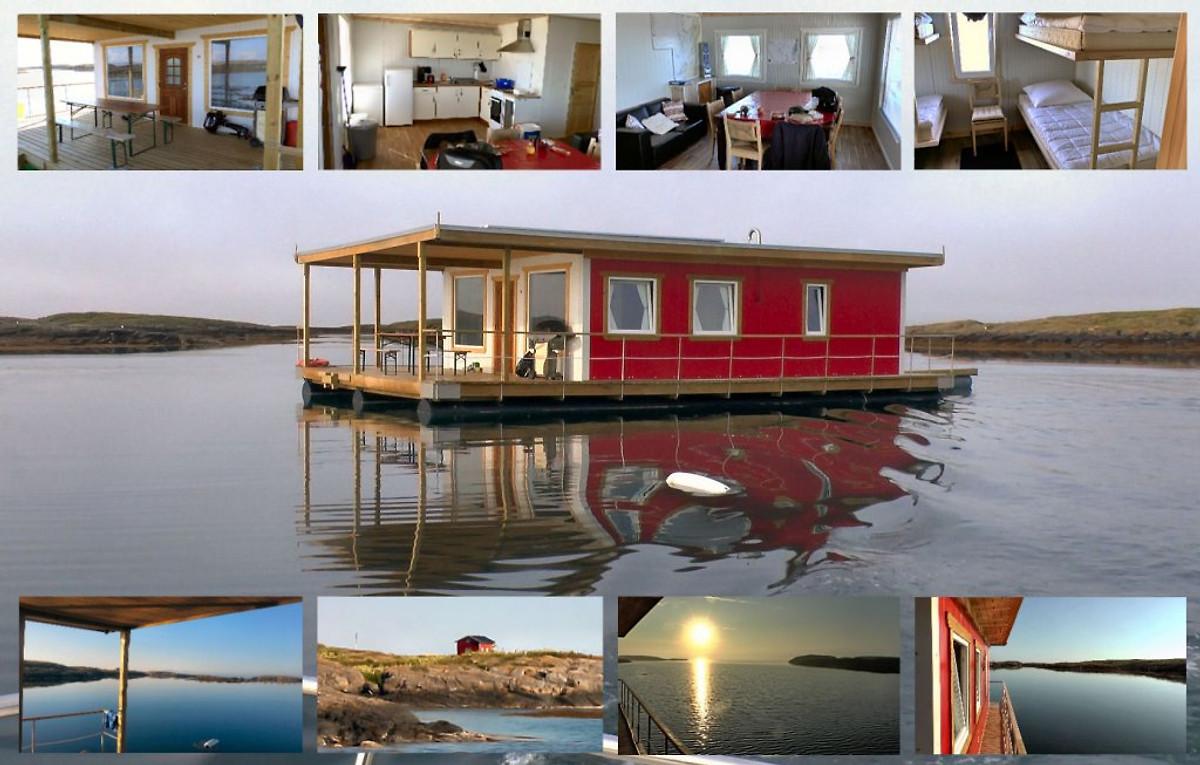 schwimmendes haus auf dem fjord ferienhaus in terr k mieten. Black Bedroom Furniture Sets. Home Design Ideas