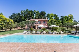 Villa with pool and beautiful view on the hills in the Marche, 10 km from the Adriatic coast.