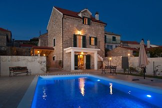 Old stone house with pool