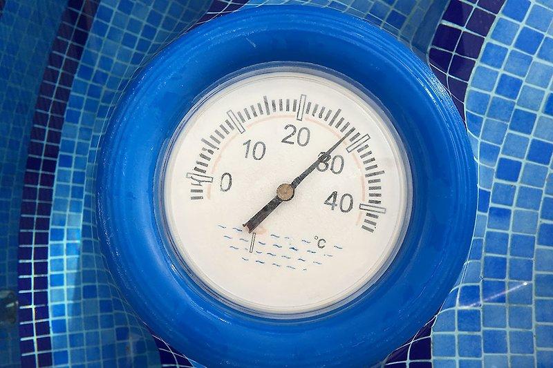 Ferienhaus La Cabana: Schwimmbadwassertemperatur auf Wunsch: 28°.
