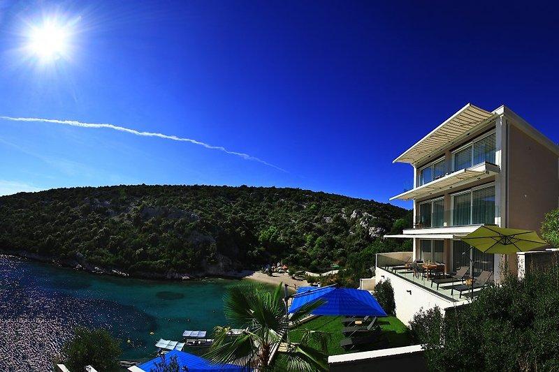 Villa direkt am Meer Südansicht