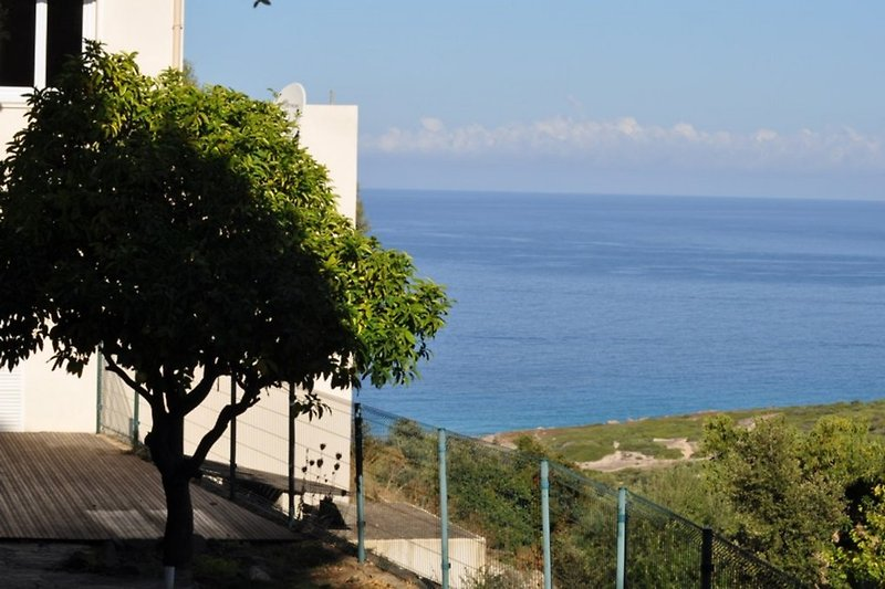 vue sur mer à partir du jardin