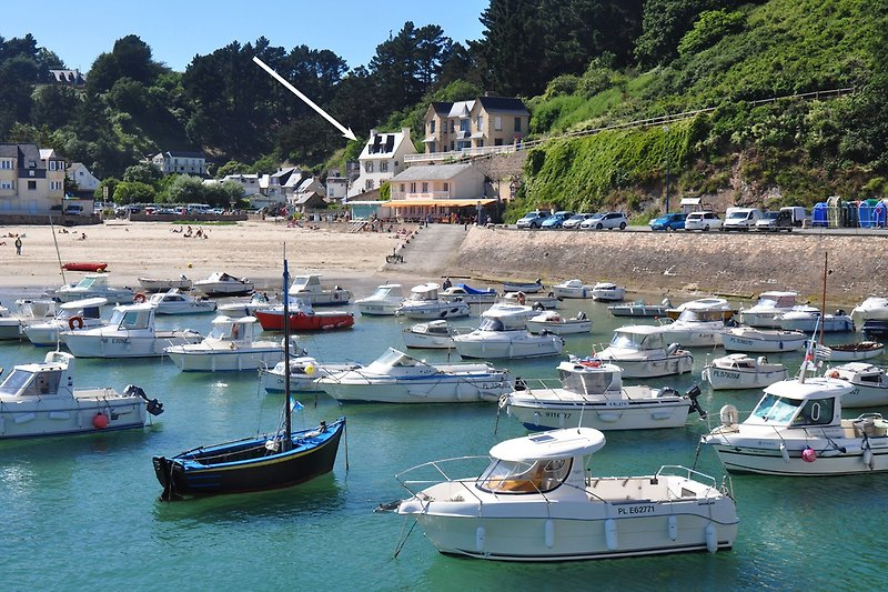 Maison Avel Mor vom Port
