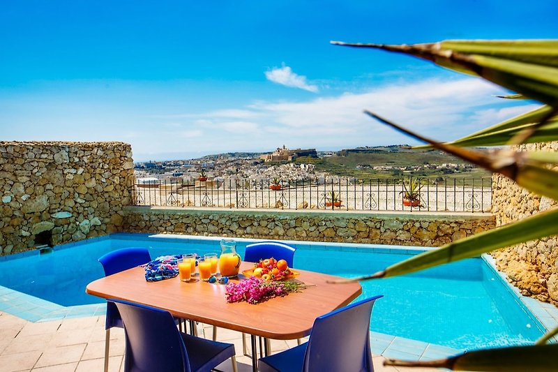 Pool terrace with views