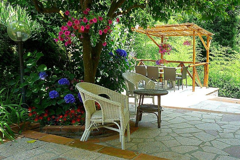 Terrasse Ortensia : in der Ruhe der Natur