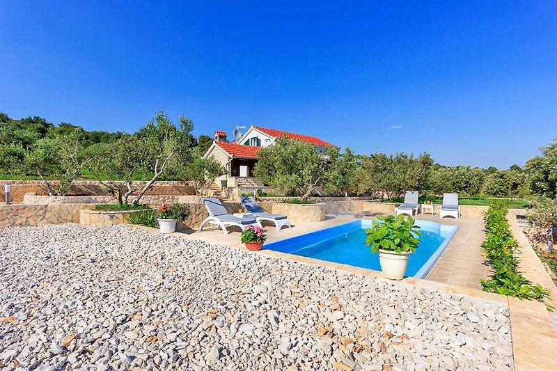Pool, Garten und Villa