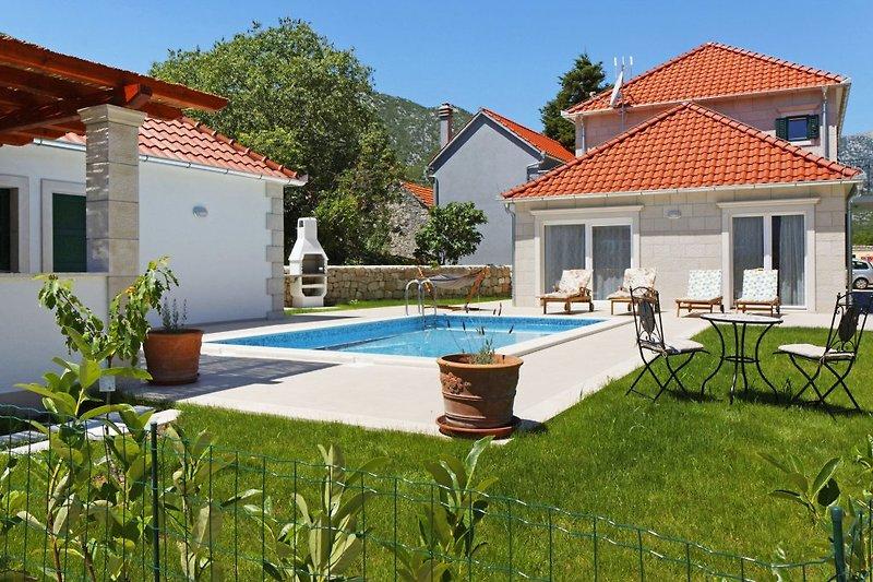Pool und Grillterrasse