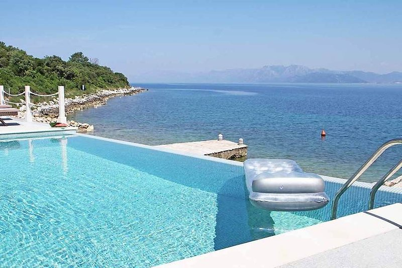 Pool with stunning sea view