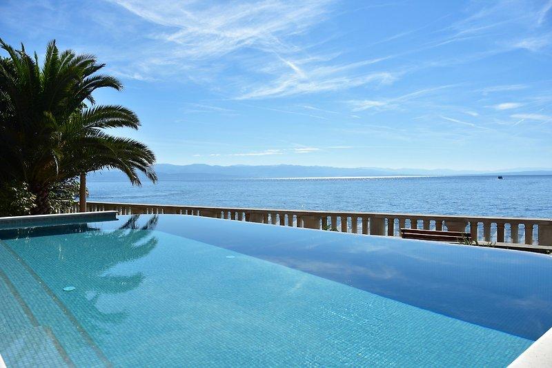 Villa Contessa - Pool mit Meerblick