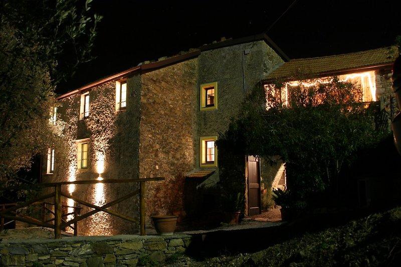 Casa Frantoio bei Nacht