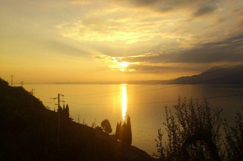 Sonnenuntergang Terrasse