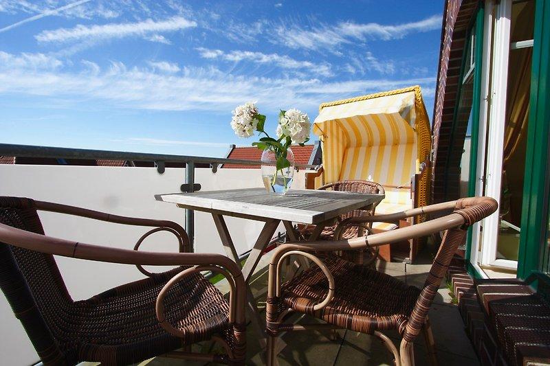 Der sonnig Balkon