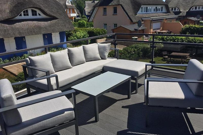 Dachterrasse mit Launch garnitur