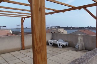 Roof terrace house Gruissan