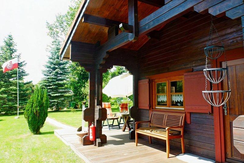 Hütte mit Garten
